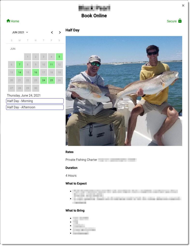 Fishing Charter Reservation System | Mako Reservations, LLC